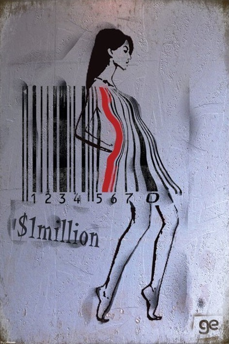 Ge Feng - barcode girl plakát, obraz