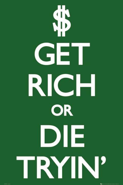 Plakát Get rich