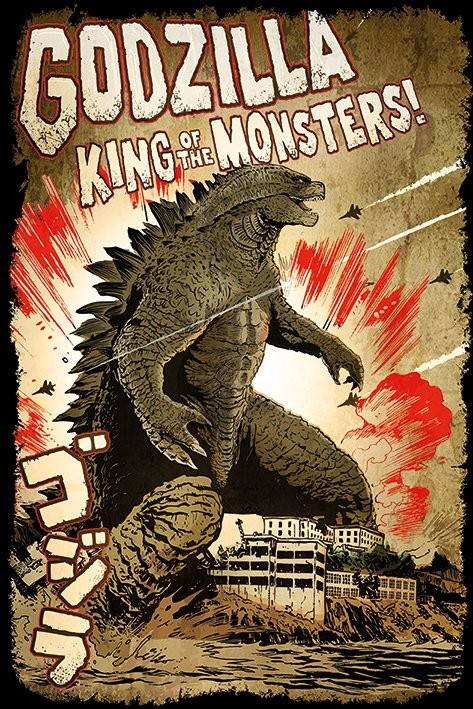 Plakát Godzilla -  King of the Monsters