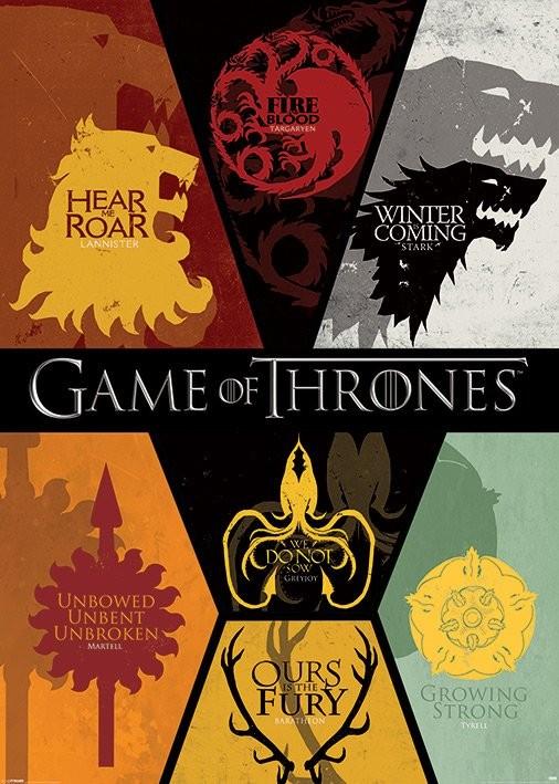 Plakat Gra o tron - Game of Thrones - Sigils