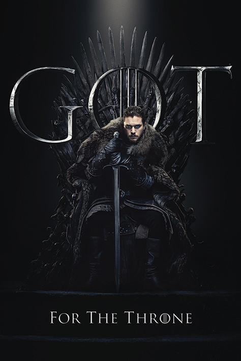 Plakat  Gra o tron - Jon For The Throne