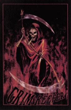 Plakát Grim reefer - smrtka a 2 kosy