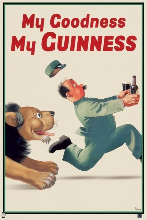 Plakát Guinness - lion keeper