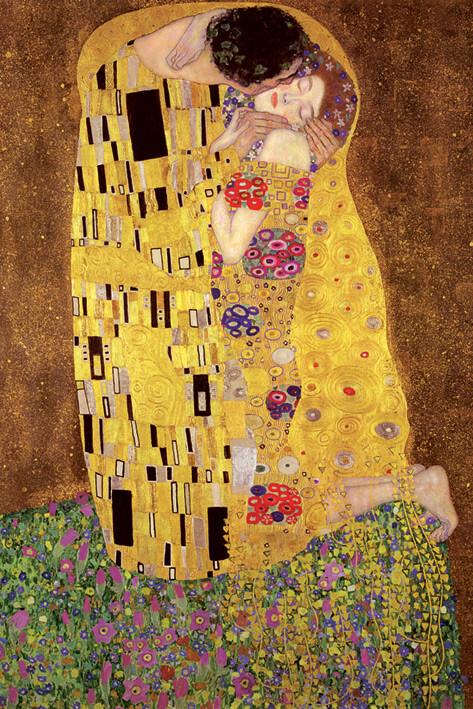 Plakát Gustav Klimt - polibek