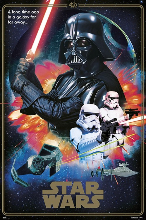Plakat Gwiezdne wojny - 40th Anniversary Villains