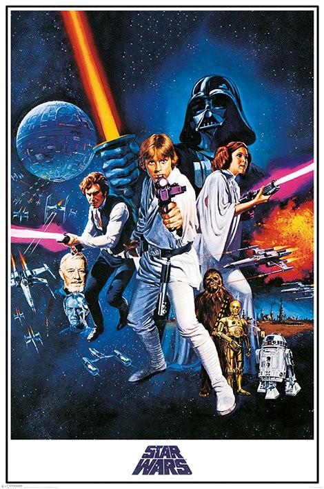 Plakat  Gwiezdne wojny A New Hope - One Sheet