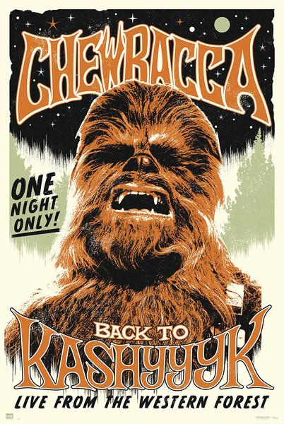 Plakat Gwiezdne wojny -  Chewbacc back to Kashyyyk
