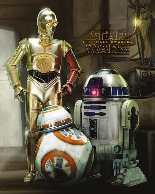 Plakat Gwiezdne wojny, część VII : Przebudzenie Mocy - Droids
