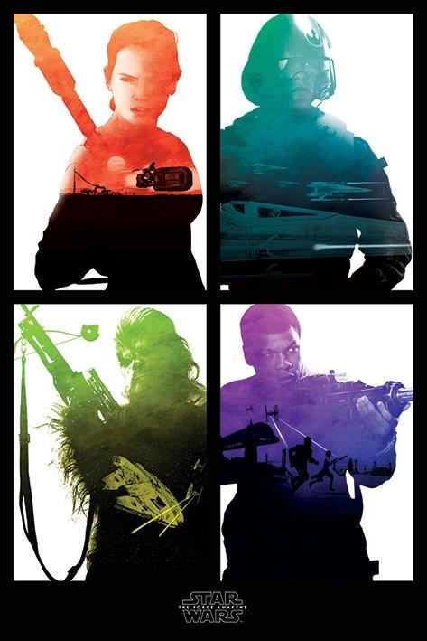 Plakat Gwiezdne wojny, część VII : Przebudzenie Mocy - Rebel Blocks