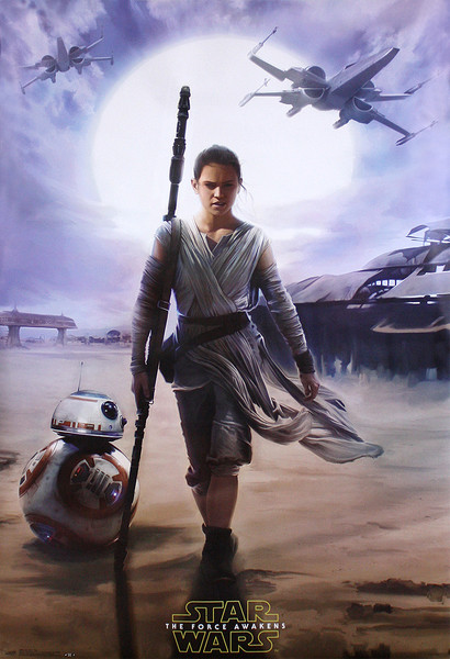 Plakat Gwiezdne wojny, część VII : Przebudzenie Mocy - Rey