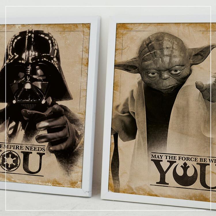 Plakat Gwiezdne wojny - Yoda, May The Force Be With You