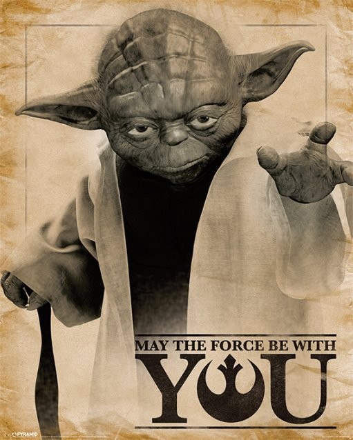 Plakat Gwiezdne wojny – Yoda May The Force Be With You