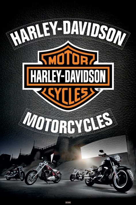 Plakat Harley Davidson - leather
