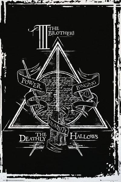 Plakát  Harry Potter - Deathly Hallows Graphic