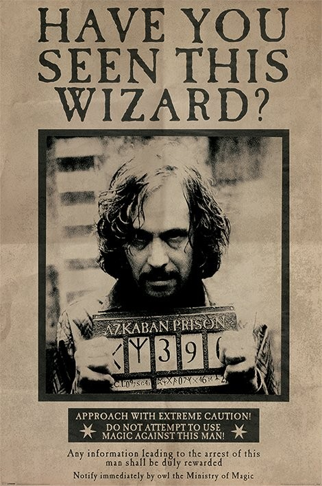 Plakát  Harry Potter - Wanted Sirius Black