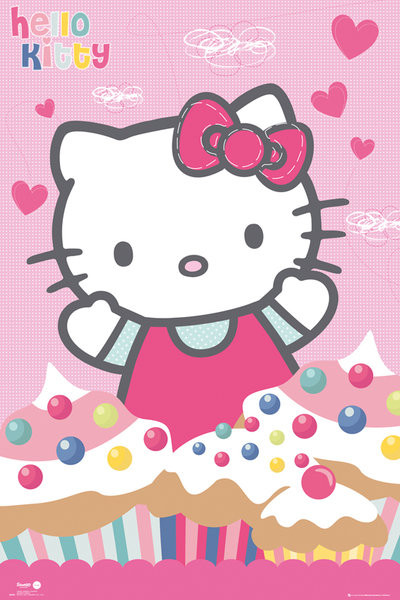 Plakat Hello Kitty - Cupcakes