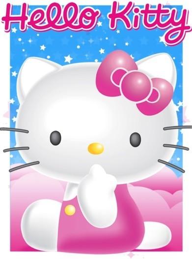 Hello Kitty - Stars S.O.S Plakat 3D Oprawiony