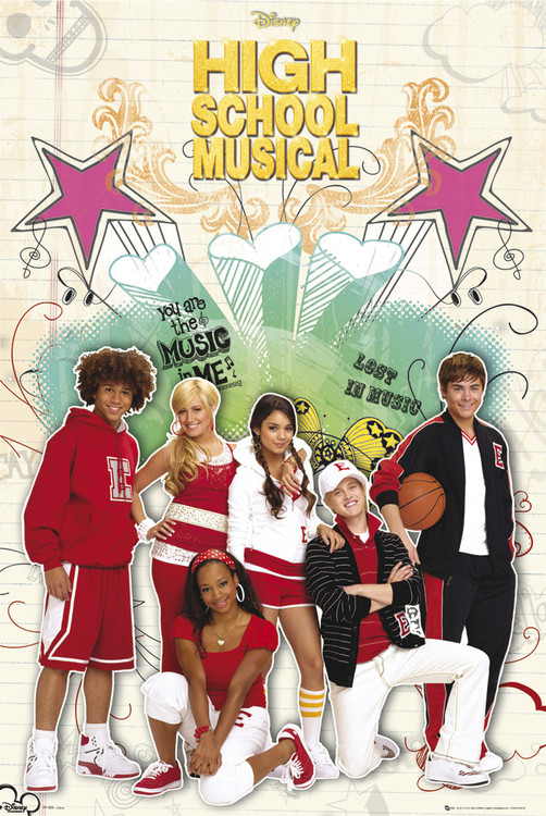 Plakát HIGH SCHOOL MUSICAL 2 - cast