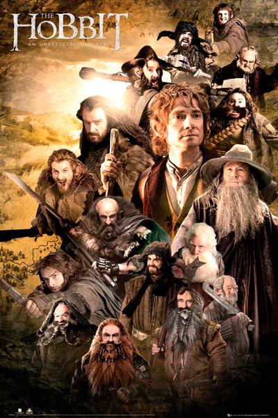 Plakát HOBBIT - characters