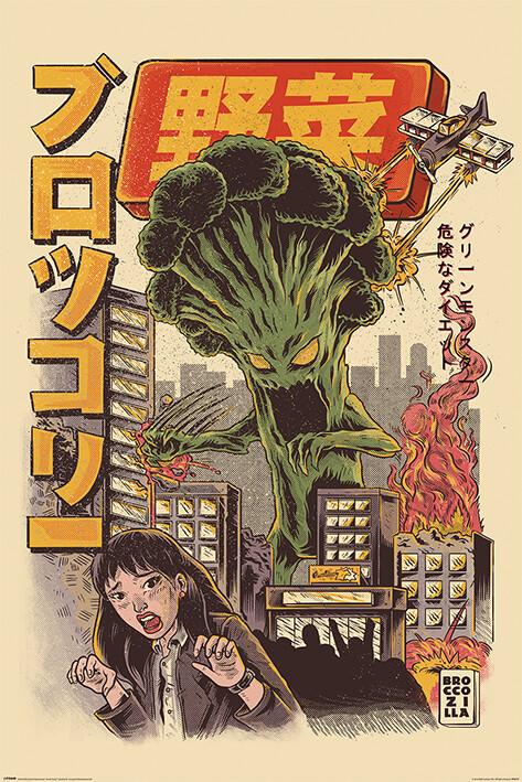 Plakát Ilustrata - Broccozilla
