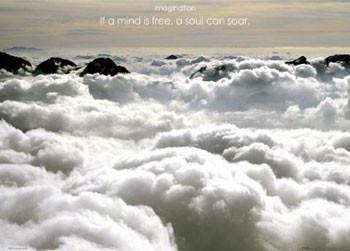 Plakat Imagination – clouds