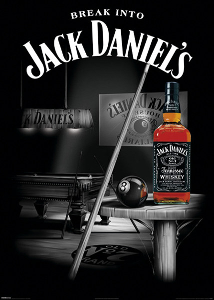 Plakát JACK DANIEL'S - Pool - Billiard