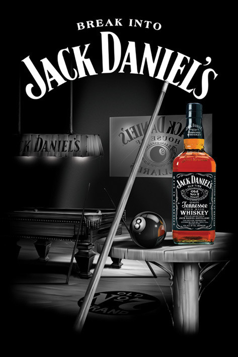 Plakat Jack Daniel's - pool room