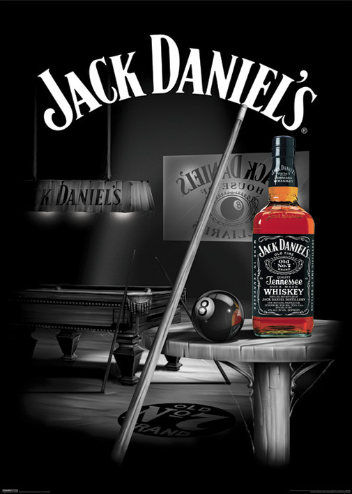 Plakat Jack Daniels - pool rooms