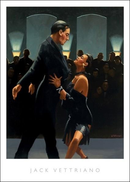 Reprodukcje Obraz Jack Vettriano Rumba In Black Posterspl