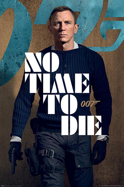 Plakát James Bond: No Time To Die - James Stance