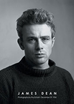Plakat James Dean - portrait b&w