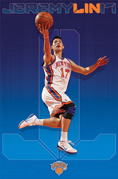 Plakat Jeremy Lin - new york knicks