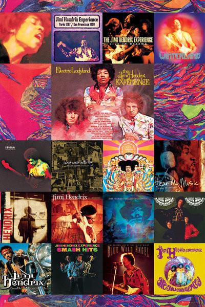 Plakat, Obraz Jimi Hendrix - album covers | Kup na Posters pl