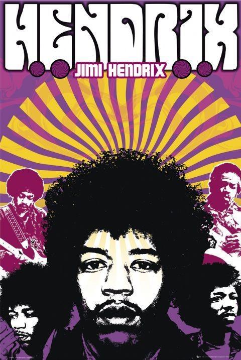 Plakát Jimi Hendrix - legend