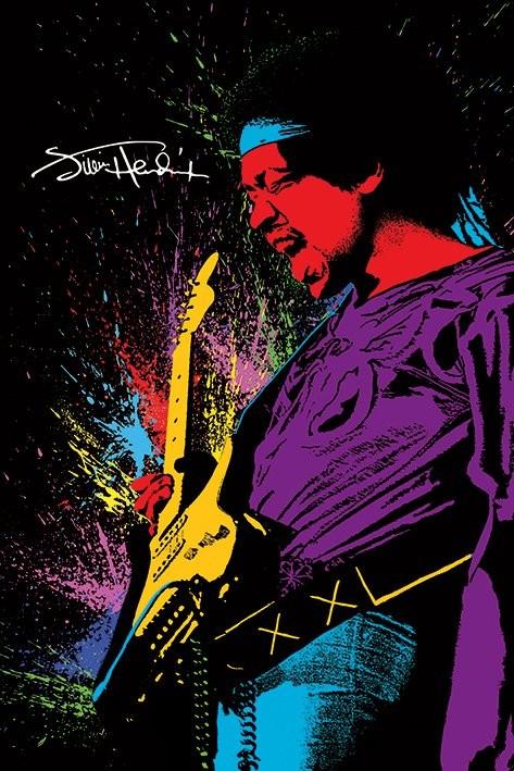 Plakát Jimi Hendrix - Paint