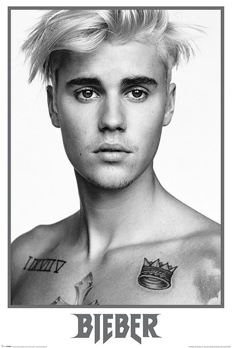Plakát  Justin Bieber - Bieber Black and White