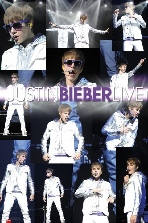 Plakát Justin Bieber - live
