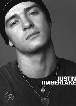 Plakát Justin Timberlake – face b&w