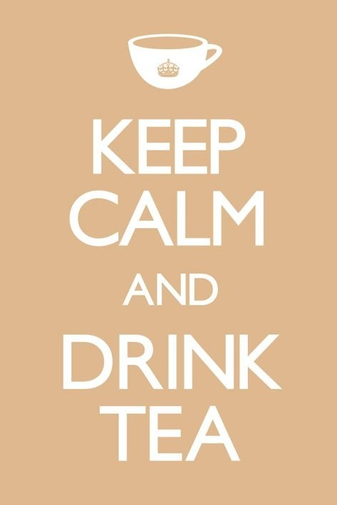 Plakat Keep calm and drink tea