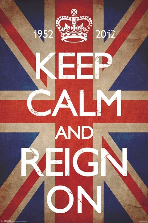 Plakát Keep calm and reign on