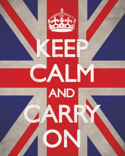 Plakát Keep calm & carry on - union