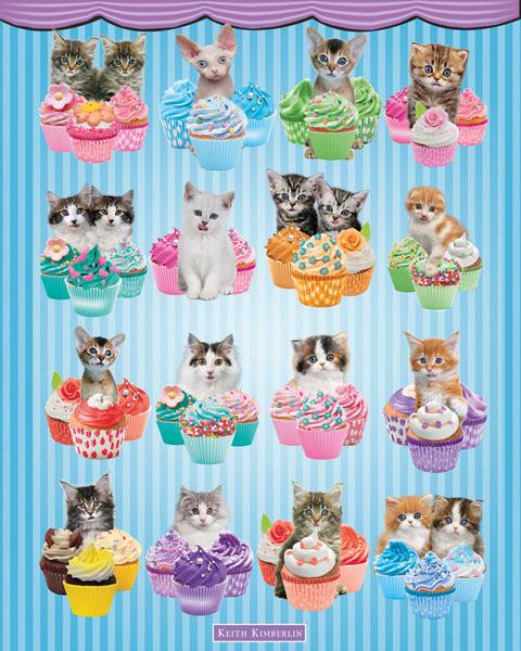 Plakát Keith Kimberlin - Kittens Cupcakes