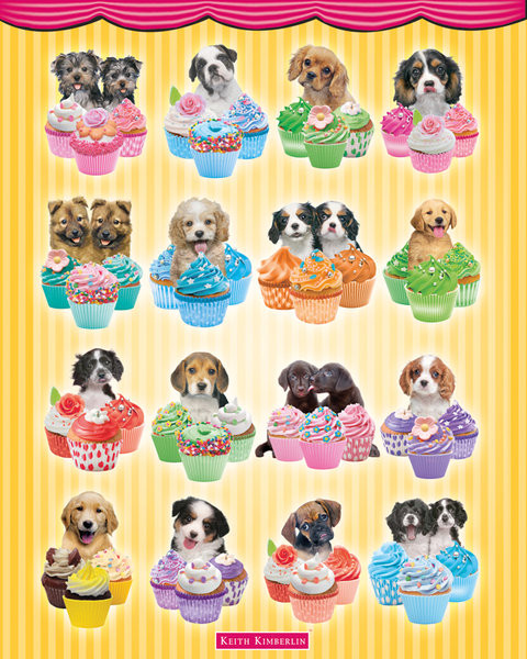 Plakát Keith Kimberlin - Puppies Cupcakes