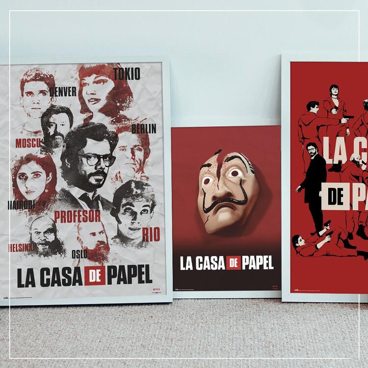 Plakát La Casa De Papel - Characters