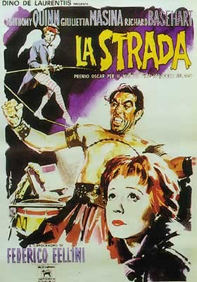 Plakát  LA STRADA - Anthony Quinn
