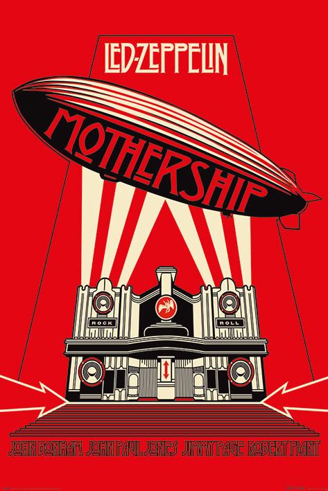 Plakát Led Zeppelin - Mothership Red