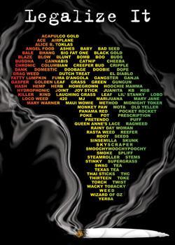Legalize it - dope slang  plakát, obraz