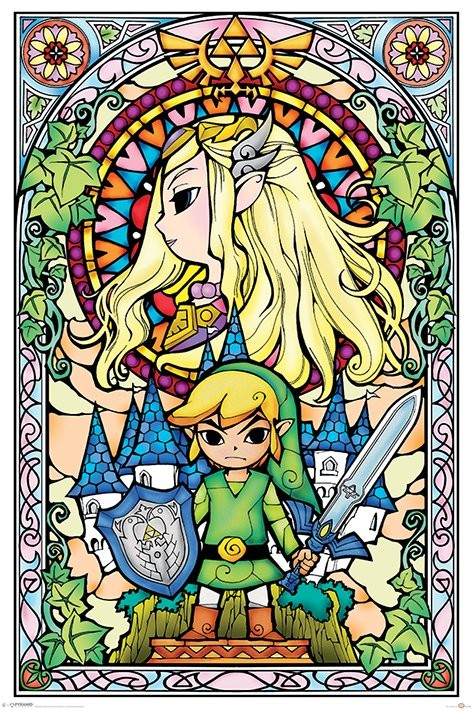 Plakát  Legend Of Zelda - Stained Glass