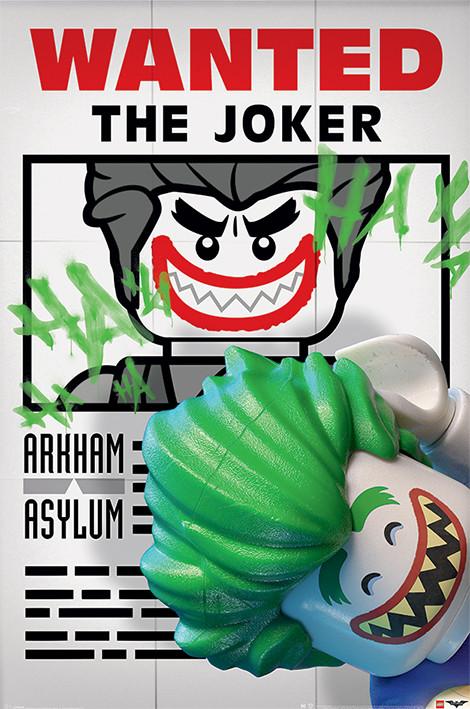 Plakat  Lego Batman - Wanted The Joker