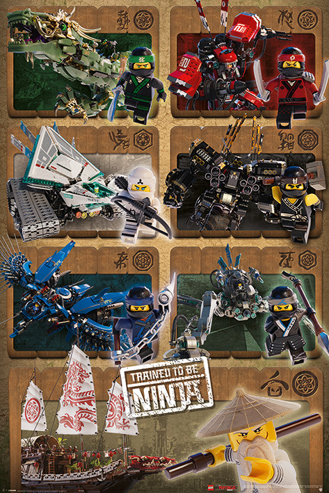 Plakat Obraz Lego Ninjago Movie Ninjas And Mechs Kup Na Posterspl